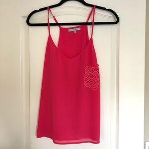Hot Pink Thin Strap Cami Tank, Great for Layering